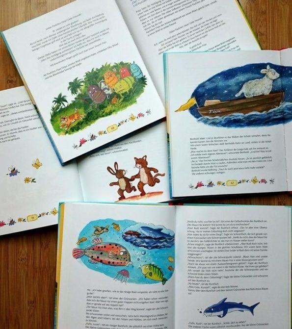"""Vorlesebuch """"Tierisch-tolle Minutengeschichten"""" Innenseiten, Illustrationen, Tiere"""