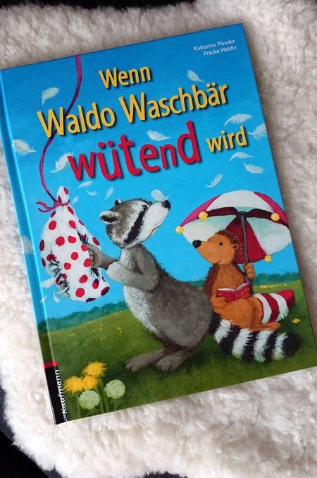 """Bilderbuch Cover """"Wenn Waldo Waschbär wütend wird"""" von Katharian Mauder und Frauke Weldin über Wut, Freundschaft und Wutmedizin"""