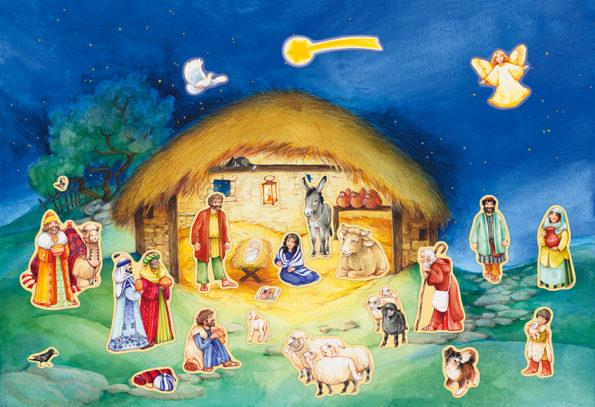 Katharina Mauder Seitenwaise Text, Weihnachtsgeschichte, Bibel, Weihnachten, Adventskalender, Poster, Sticker