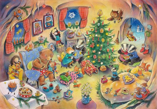 Katharina Mauder Seitenwaise Text Adventskalender Poster Weihnachten