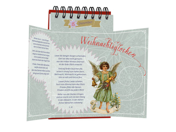 Katharina Mauder Seitenwaise Text, Adventskalender, nostalgisch, Nostalgie, Vintage, Weihnachten, Advent