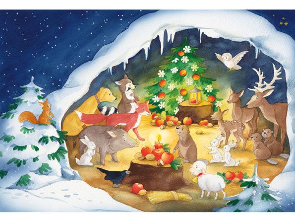Katharina Mauder Seitenwaise Text, Johanna Ignjatovic, Rica, Ricas schönstes Weihnachtsfest, Adventskalender, Weihnachten, Waldtiere, Advent