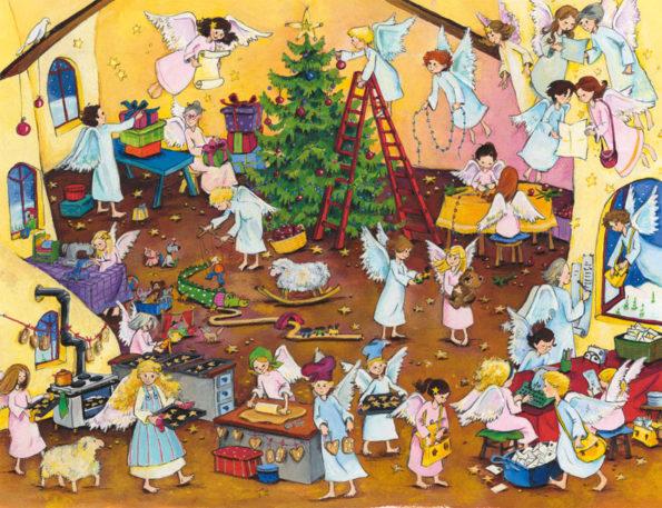 Katharina Mauder Seitenwaise Text, Eleni Zabini, Engel, Adventskalender, Weihnachten in der Himmelswerkstatt, Weihnachtswerkstatt