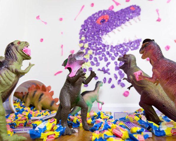Dinovember, Dinosaurier, Fantasie, Kaugummi, Kunst
