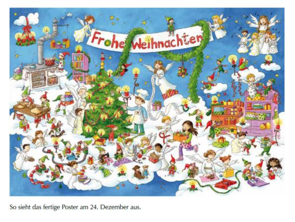 Katharina Mauder, Carmen Hochmann, Adventskalender, Oskar und Leni retten das Weihnachtsfest, Engel, Weihnachten, Wichtel, Adventkalender, Weihnachtswerkstatt, Himmelswerkstatt, Weihnachtswichtel, Himmel