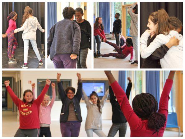 Collage zu Nadia Malvertis Theater-Workshop bzw. Schauspiel-Workshop in Hamburg