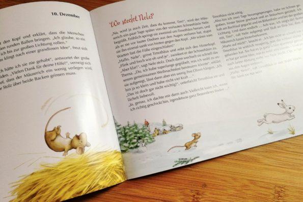 Katharina Mauder, Stephanie Stickel, Kaufmann Verlag, Das Weihnachtsfest der Tiere, Adventskalender für Kinder, Türchen